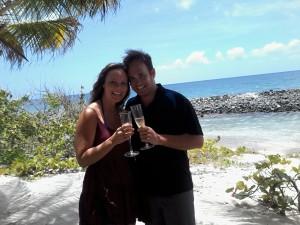 Happy couple at Sandy island